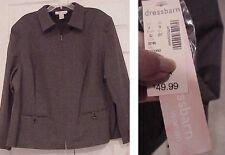 Women's jacket Dressbarn stretch sexy gray $50 price tag plus size 2X gorgeous