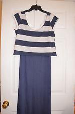 NWT Umgee USA Womens S Small Maxi Dress Layered Look / Stripe - NeW