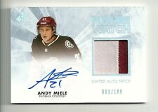 2011-12 SP Authentic ANDY MIELE Future Watch Patch Limited Autograph #9/100