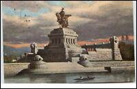 Koblenz alte Postkarte 1910 Kaiser Wilhelm Denkmal am Deutschen Eck
