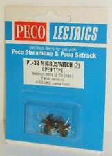 Peco PL-32 Microswitch (2) Open Type - New. (Model Railways)
