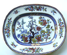 "Antique China- Minton- Indian Tree-Transfer Ware-Large Platter 15.5""- 22K gold"