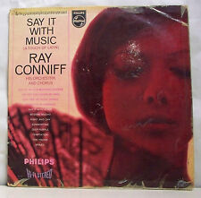 """33T RAY CONNIFF Disque LP 12"""" SAY IT WITH MUSIC a touch of Latin PHILIPS 847029"""
