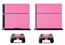 Pink Carbon Fiber Skin Sticker for Sony PS4 PlayStation 4 & 2 controller skins