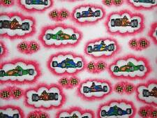 CRIB SHEET /FITTED / FLANNEL/HANDMADE  -RACING CARS AND CHECKERED FLAGS