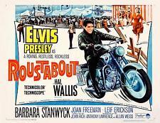 ELVIS PRESLEY On MOTORCYCLE In ROUSTABOUT 11x14 Half Sheet print 1964