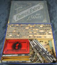 alter FAMOS Stempelkasten No.21 Stempelkissen Gutenberg Buchstaben Wörter