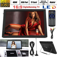 "Portable 14"" 1080P HD Digital TV TFT LED Car USB HDMI TV Video Player Television"