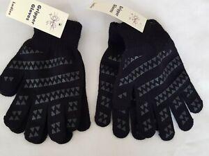 Ladies Women Girls Gripper Magic Stretchy Black  Winter Warm Driving Gloves