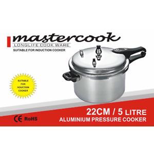 ALUMINIUM PRESSURE COOKER INDUCTION BOTTOM 5L MASTERCOOK