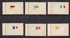 Liberia rare flag error printed on gum side set of 6 MNH mint NH unmounted