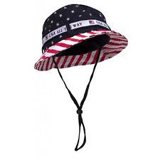 c1ef3c783da Cotton Twill America BUCKET HAT W  USA FLAG S M or M L