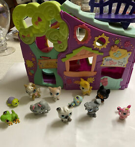 "Littlest Pet Shop Club Tree House Play Set 13"" with Swings Purple Version 2007"