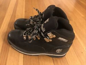 Timberland Euro Hiker Black Leather Rip Stop Size 6 M
