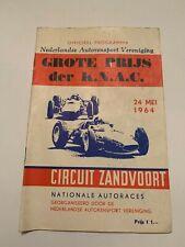 1964 Grote Prijs der K.N.A.C. Nationale Autoraces Zandvoort Racing Program