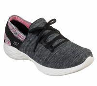 Skechers Black Pink shoes Women sock like Slipon Sport Comfort Casual Walk 15809