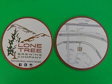 Beer Bar Coaster ~ LONE TREE Brewing Co >< Handcrafted Beers, Rooted in COLORADO