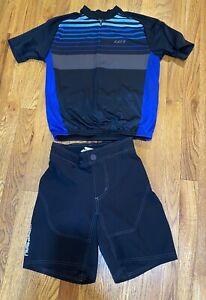 Louis Garneau Range Cycling Black Shorts Boys M And Jersey Size 10 Junior Equipe