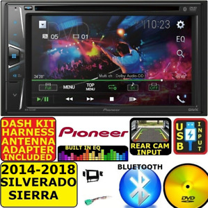 2014-2018 SILVERADO SIERRA DVD CD TOUCHSCREEN BLUETOOTH DOUBLE DIN STEREO