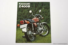 09. Prospekt Kawasaki Z 400 B1, printed in Japan, Original um 1978