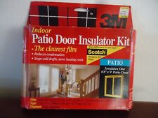 "3M Indoor Patio Door Insulator Film 6'8"" x 9' Patio Door Roll Of Tape"