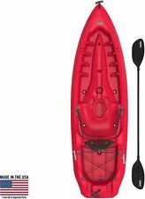 Fire Red Kayak Boat Canoe Paddle Sturdy Adjustable Backrest Elegant Style Chic