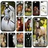 Watercolor Horse Horses Running Soft Silicone Phone Case for iPhone XS Max XR X