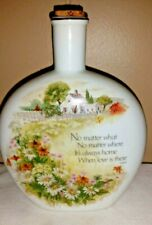 """Decorative 7"""" Corked Bottle Pastoral Scene No Matter What .. Love is There"""