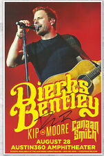 Dierks Bentley autographed concert poster Drunk On A Plane, I Hold On