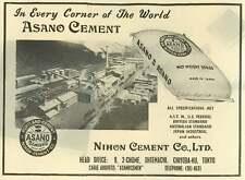 1953 Nihon Cement Company Asano In Every Corner Of The World Ad