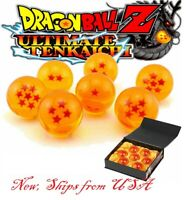 7 Piece Stars Dragon Ball Z Crystal Orange Balls Set Collection In Gift Box Set