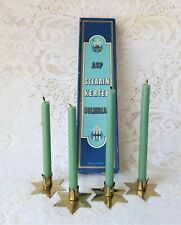 Antique Original Box Of Danish Christmas Candles/Scandinavian/ Stearin Kerter