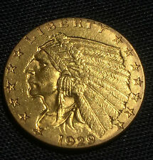 1929 $2.5 Gold Indian Head Quarter Eagle, Excellent Condition...