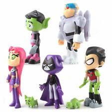 7Pcs Teen Titans Go Robin Cyborg Beast Boy Raven Starfire Action Figure Toy uk