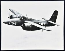 Vintage Dual Prop Fighter Airplane C54. Aircraft In-Flight Photo. c.1960's