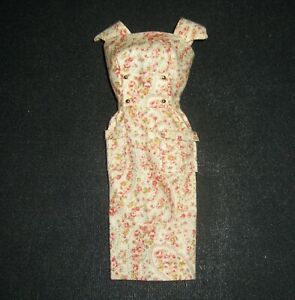 Vintage Barbie Inspired Sheath Dress w/Gold Bead Buttons Adorable Paisley Print