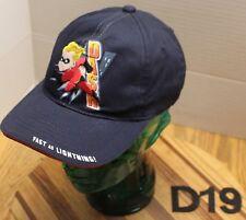 "DISNEYLAND RESORTS INCREDIBLES DASH HAT ""FAST AS LIGHTENING"" BLUE YOUTH VGC D19"