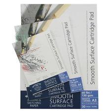 Winsor & Newton Smooth Surface Cartridge Pads 130gsm A4. Artists Gummed Paper.