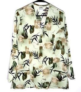 Bamboo Themed Lab Coat by UA Scrubs   Long Sleeve Scrub Top   Womens Medium