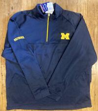 NWTChampion Men's Michigan Wolverines 1/4 Zip Pullover Embroidered Logo XXL Blue