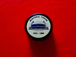 """Montreal Forum (""""Forever Proud"""") Hockey Puck"""