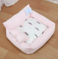 New Handmade Pet Dog Cat Bed House Sofa Cushion Mat Cover Removable Size S,M