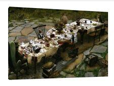 ALICE nel paese delle meraviglie 30x20 Inch canvas-Tea Party RARO INCORNICIATO QUADRO TELA