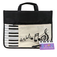 Music Tote Bag Handbag Shopping Bag for Students Music Lovers 37x27cm