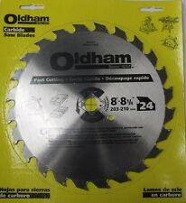 Oldham 8004524 8-Inch 24T Carbide Saw Blade Combination Carded