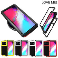 LOVE MEI Shock-proof Cover for Samsung Galaxy S10 5G Case Screen Protector Film