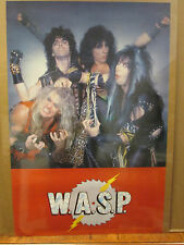 Vintage 1984 W.A.S.P original rock band poster music artist  8856