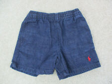 Ralph Lauren Polo Shorts Baby 6-12M Blue Pony Chino Casual Cotton Boys Kids