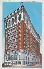 Postcard CT New Haven Hotel Taft and Annex 1936