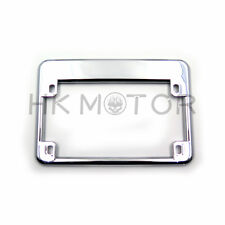 Chrome Motorcycle License Plate Frame Surround Cover